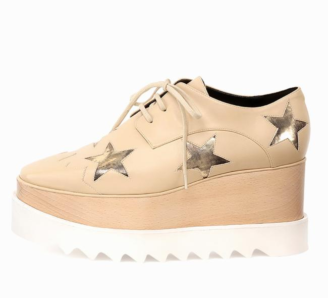 Item - Nude Elyse Star Faux-leather Wedge Sneaker Platforms Size EU 40.5 (Approx. US 10.5) Regular (M, B)
