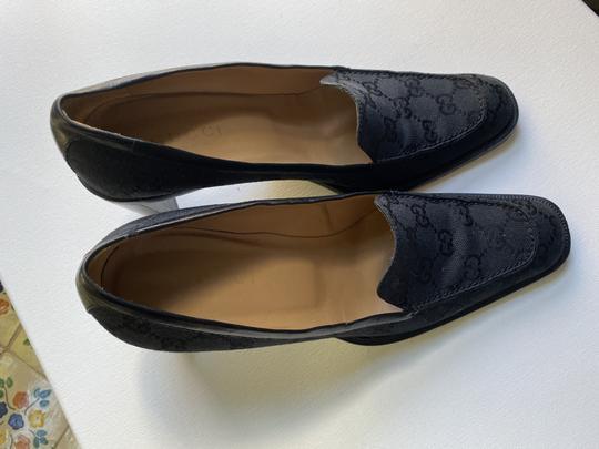 Gucci Canvas Leather Lined Good Condition Size 9 black Pumps Image 4