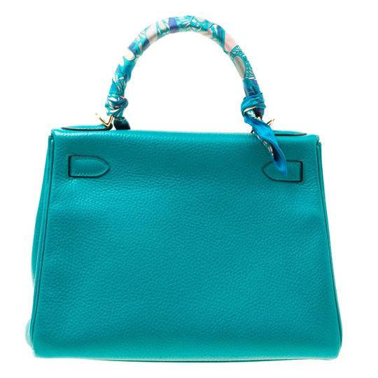 Hermès Leather Classic Tote in Green Image 1