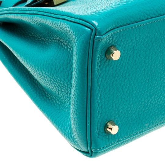 Hermès Leather Classic Tote in Green Image 10