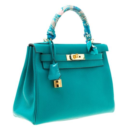 Hermès Leather Classic Tote in Green Image 3