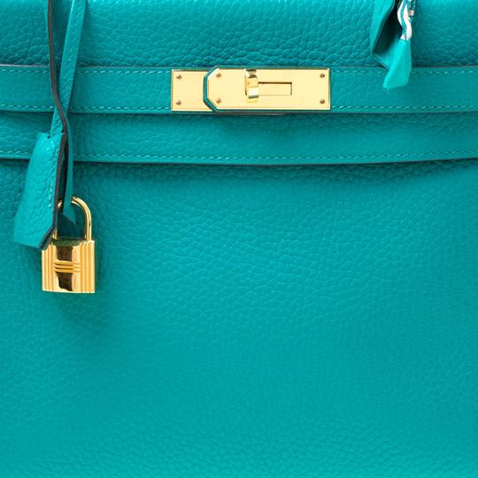 Hermès Leather Classic Tote in Green Image 5