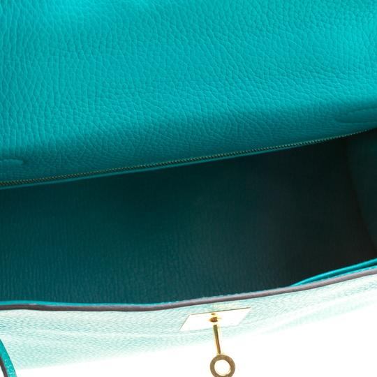Hermès Leather Classic Tote in Green Image 6