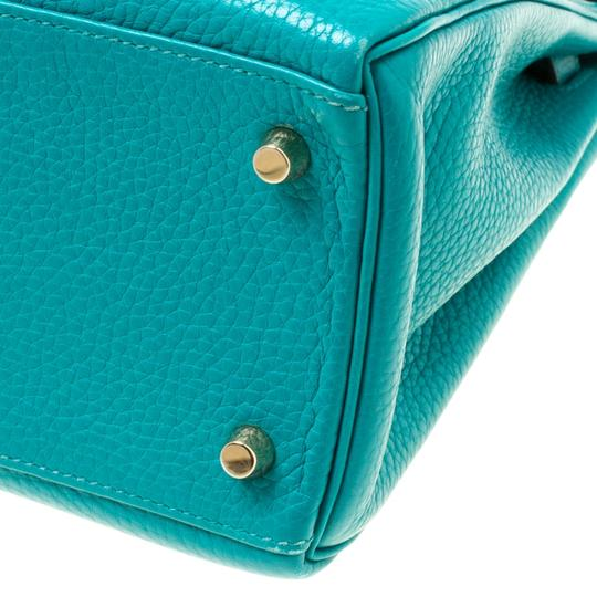 Hermès Leather Classic Tote in Green Image 9