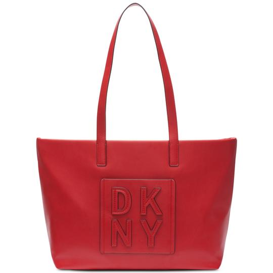Preload https://img-static.tradesy.com/item/26242283/dkny-tilly-stacked-logo-top-zip-large-bright-red-faux-leather-tote-0-0-540-540.jpg