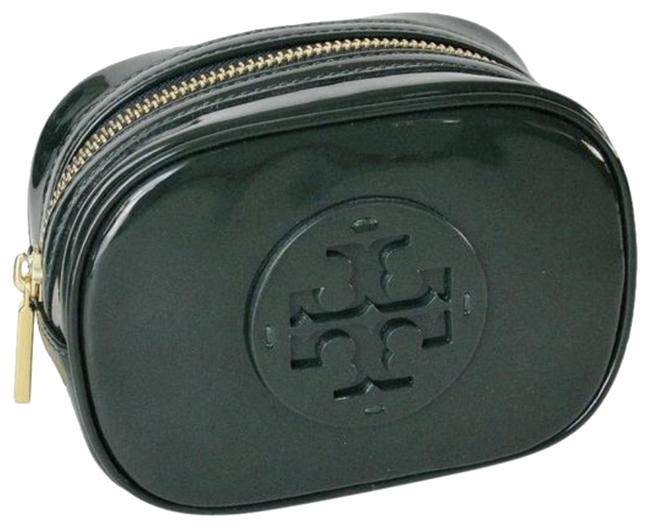 Item - Jitney Green Clutch Stacked Patent Small Cosmetic Bag
