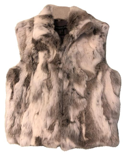 Item - Grey New Real Rabbit Fur Vest Size 8 (M)