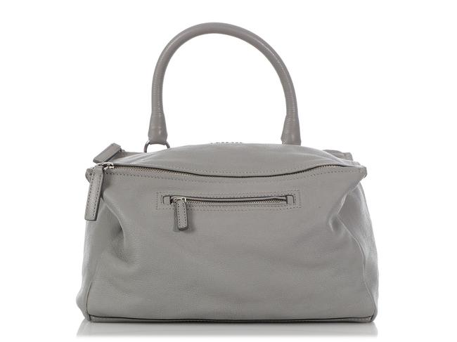 Item - Pandora Medium Gray Leather Satchel