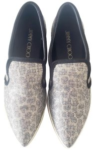 Jimmy Choo Metallic Snakeskin Casual Champagne Athletic