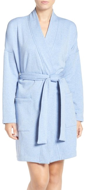 Item - Blue Plush Fleece Lined Bath Robe Sweatshirt/Hoodie Size 12 (L)