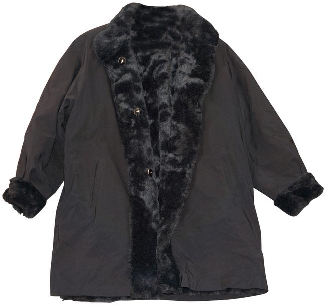 Item - Black Collection By Marie Gray Reversible - Women Large Coat Size 14 (L)