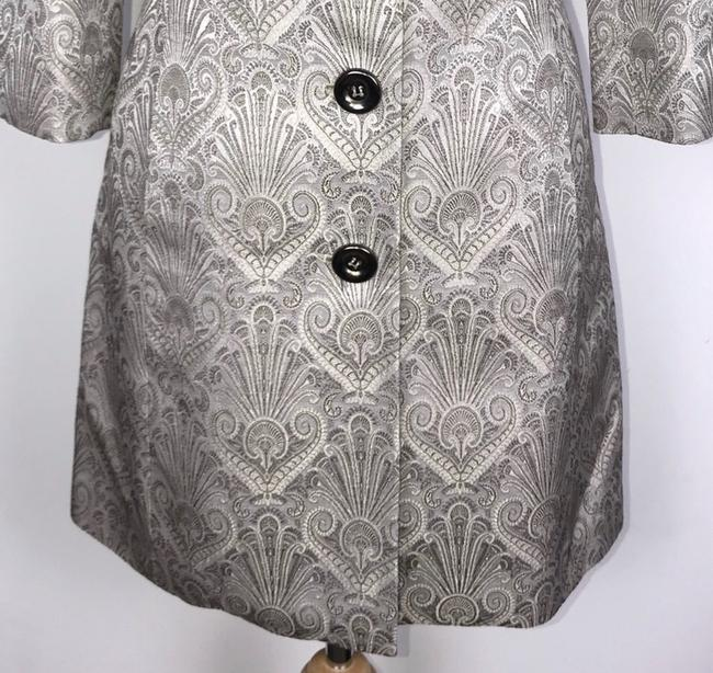 Etcetera Silver/Gray Jacquard Front Button Down Coat Size 6 (S) Etcetera Silver/Gray Jacquard Front Button Down Coat Size 6 (S) Image 5