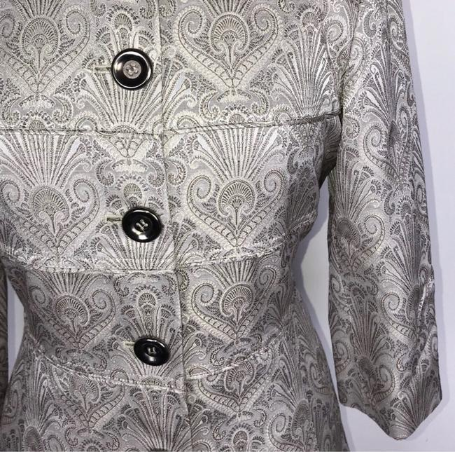 Etcetera Silver/Gray Jacquard Front Button Down Coat Size 6 (S) Etcetera Silver/Gray Jacquard Front Button Down Coat Size 6 (S) Image 6