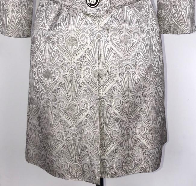 Etcetera Silver/Gray Jacquard Front Button Down Coat Size 6 (S) Etcetera Silver/Gray Jacquard Front Button Down Coat Size 6 (S) Image 8
