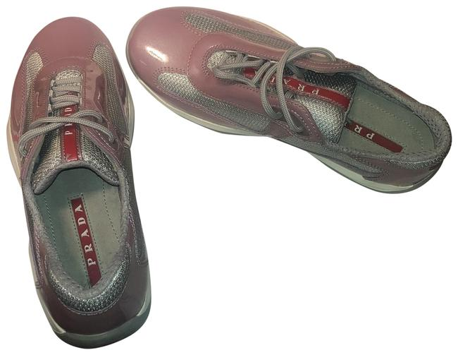 Item - Pink Pr 3163 Metal Grey Gym Sneakers Size US 5.5 Regular (M, B)