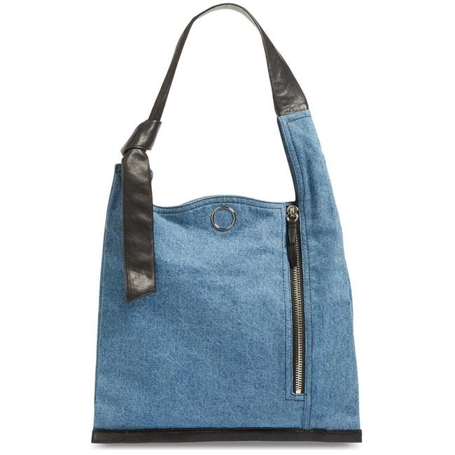 Item - Elise Denim Blue Leather Shoulder Bag