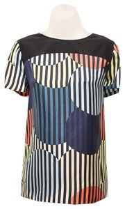 Diane von Furstenberg Top Light Zebra Balloons