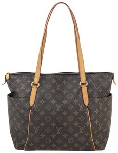 Louis vuitton Totally Mm Monogram Outside Pockets Canvas Tote in Brown