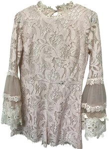 Pink Owl Lace High Neck Bell Sleeve Dress