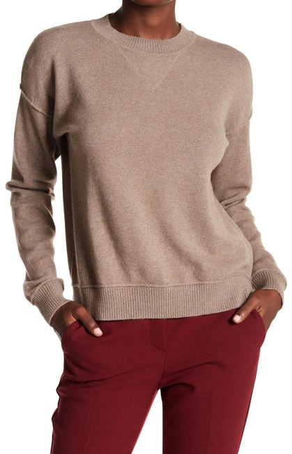Item - Adelle Crew Neck Cashmere Dark Oatmeal Sweater