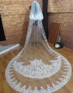 Long White/Ivory 10 Foot 2t Tier Cathedral Bridal Veil