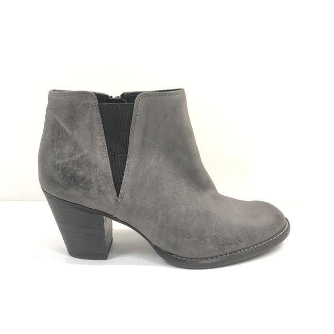 Item - Gray Zip Ankle Boots/Booties Size US 8.5 Regular (M, B)