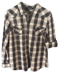 a.n.a. a new approach Button Down Shirt Gray and black
