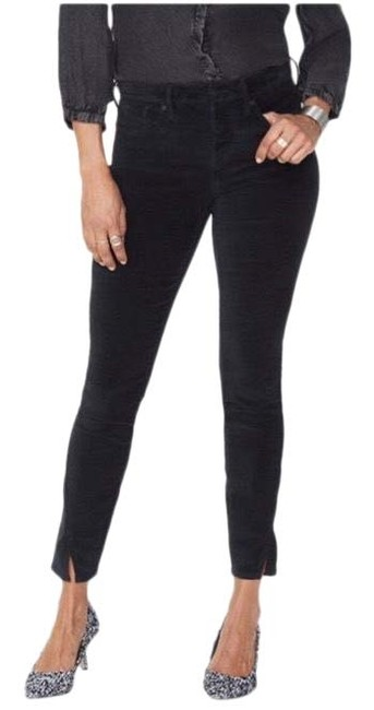 Item - Black Dark Rinse Ami Ankle In Velveteen with Twisted Seam Slits Skinny Jeans Size 8 (M, 29, 30)
