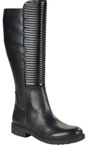 William Rast Quilted Leather Riding Black Boots