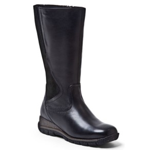 Blondo Water-resistant Leather Tall Black Boots