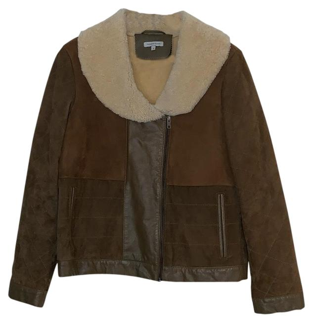 Item - Brown Multi Suede/Leather Patch Jacket Size 4 (S)