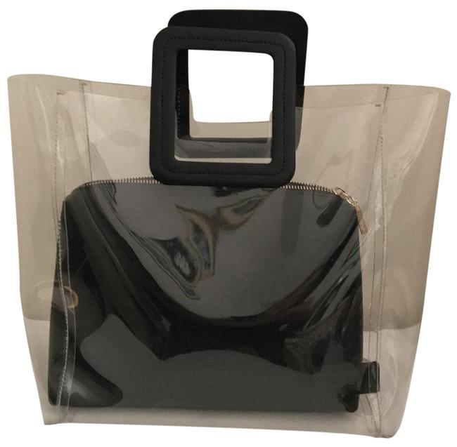 Item - Shirley Handbag Clear/Black Pvc and Leather Satchel