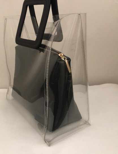 STAUD Satchel in clear/black Image 1