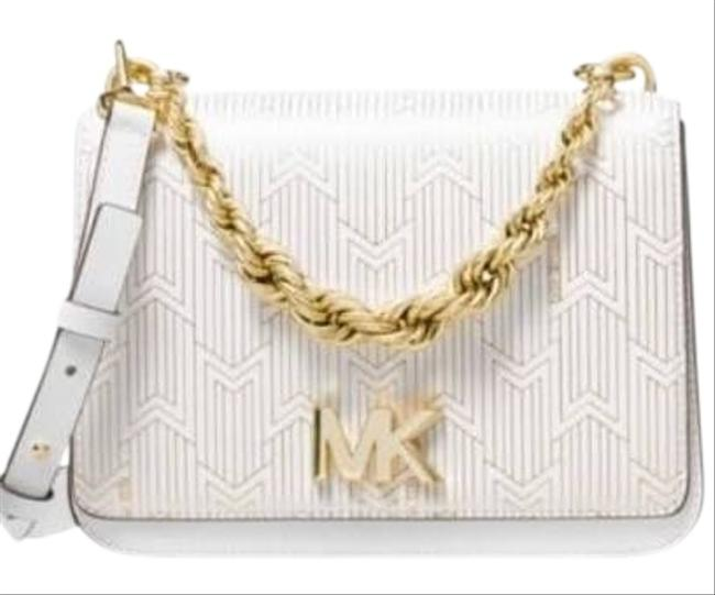 Item - Metallic Deco Soft Pink Chain New Optic White Shoulder Bag