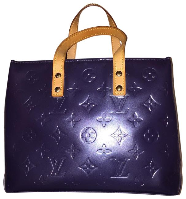 Item - Reade Small Blue Patent Leather Tote