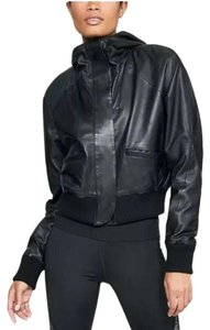 Under armour Bomber Stretch Hood Leather Jacket