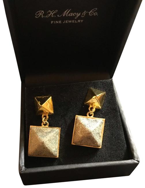 Kenneth Cole Gold and Green Rockstud Earrings Kenneth Cole Gold and Green Rockstud Earrings Image 1