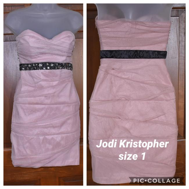 Preload https://img-static.tradesy.com/item/26249888/jodi-kristopher-pink-scrunched-tulle-bodycon-short-cocktail-dress-size-0-xs-0-0-650-650.jpg