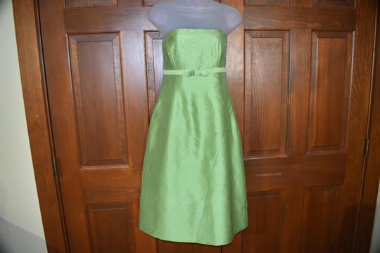 Green Strapless Traditional Bridesmaid/Mob Dress Size 10 (M) Image 3