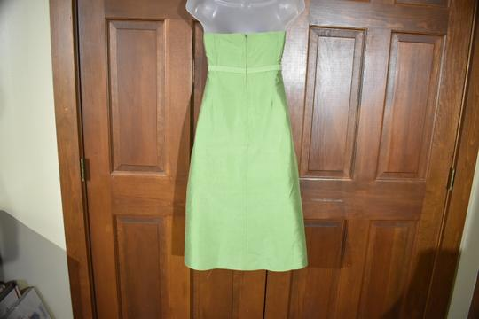 Green Strapless Traditional Bridesmaid/Mob Dress Size 10 (M) Image 4