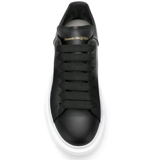 Alexander McQueen Sneaker Leather Oversized Sole Black Athletic Image 1