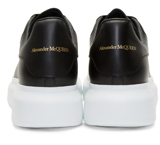 Alexander McQueen Sneaker Leather Oversized Sole Black Athletic Image 4
