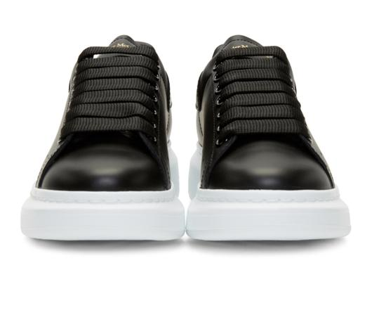 Alexander McQueen Sneaker Leather Oversized Sole Black Athletic Image 5