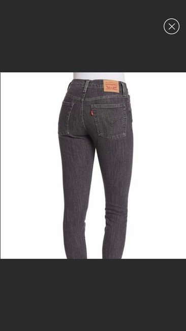 Levi's Wedgie Denim Black Frayed Skinny Jeans Image 1
