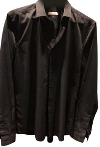 Versace Collection Button Down Shirt black and gray