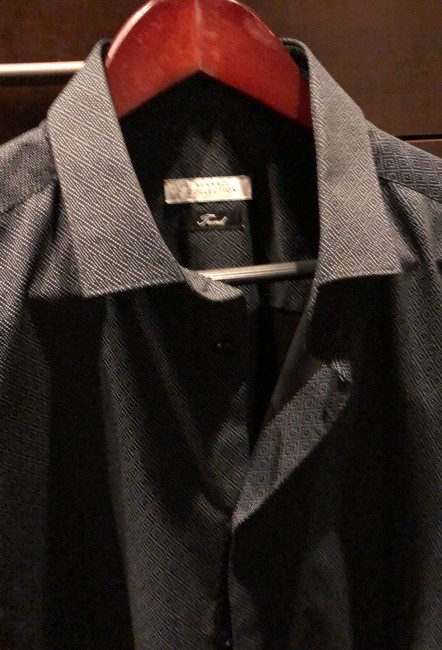 Versace Collection Button Down Shirt black and gray Image 2