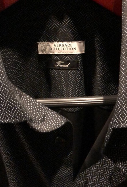 Versace Collection Button Down Shirt black and gray Image 3