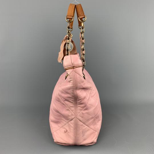 Lanvin Leather Grommets Italy Tote in Pink Image 1