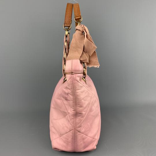 Lanvin Leather Grommets Italy Tote in Pink Image 4