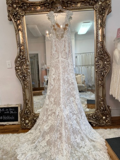 Maggie Sottero Ivory - Chauncey Formal Wedding Dress Size 14 (L) Image 3